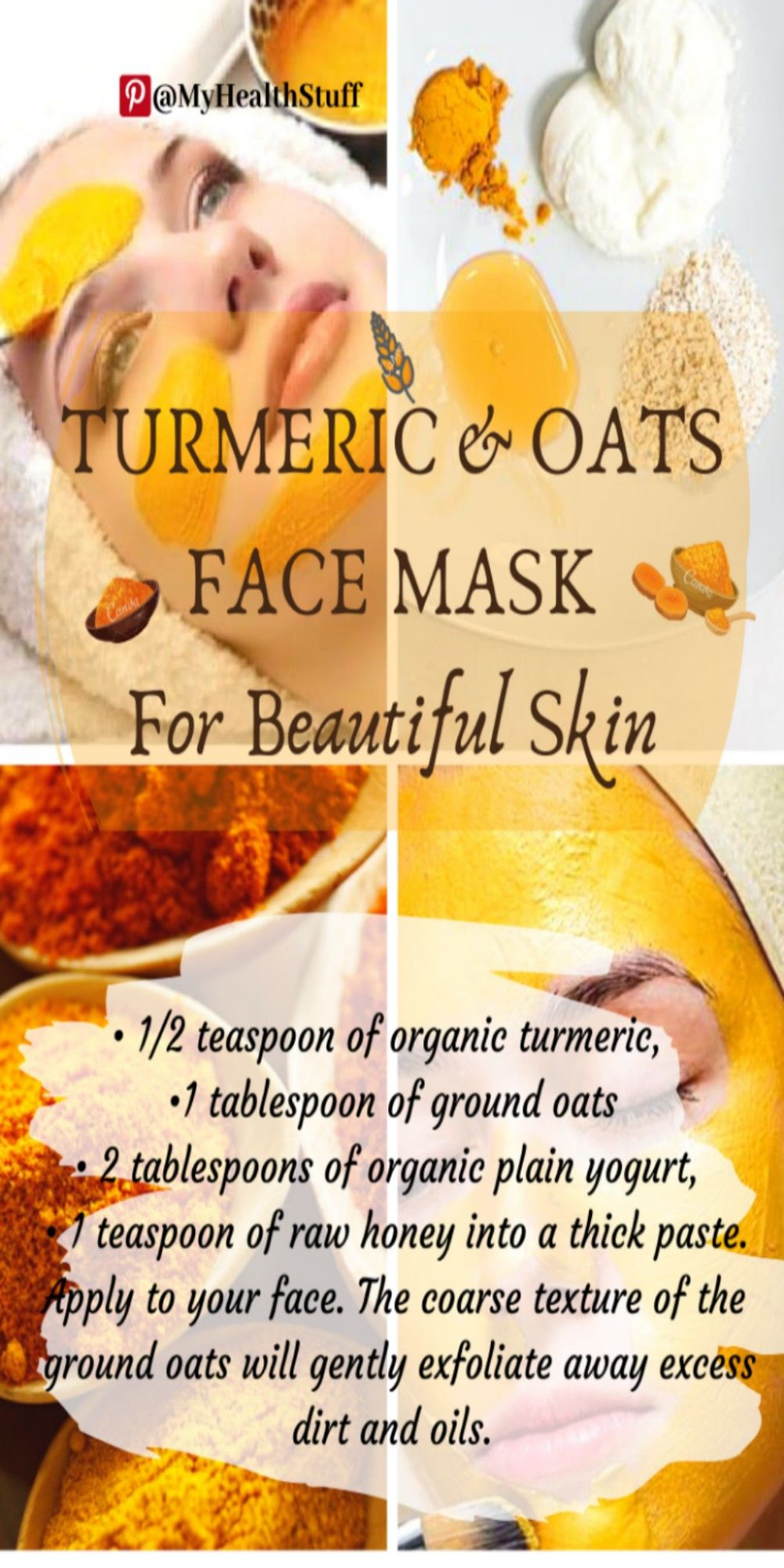 Turmeric & Oats Face Mask For Beautiful Skin in 10  Oats face