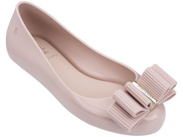 vari stili stili di moda scarpe da ginnastica a buon mercato Le Scarpe Ballerine eco plastica rosa con cinturino ...