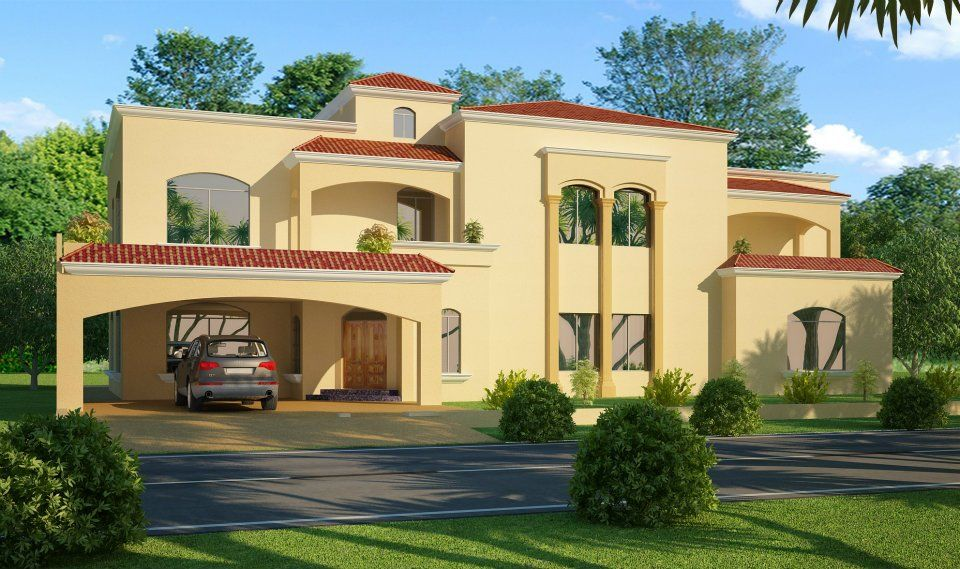 Exterior: 3D Front Elevation.com: 1 Kanal , 2 Kanal, House In Lahore