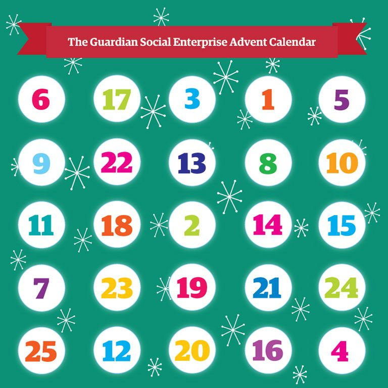 Social Enterprise's #Christmas advent calendar from The Guardian #socent