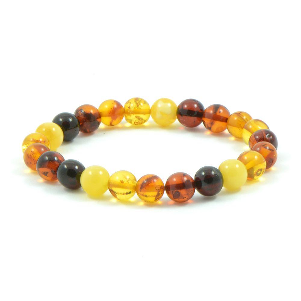 d94e2c6eb28 Bracelet d Ambre naturel très design composé de perles extra-rondes !  Fabrication artisanale