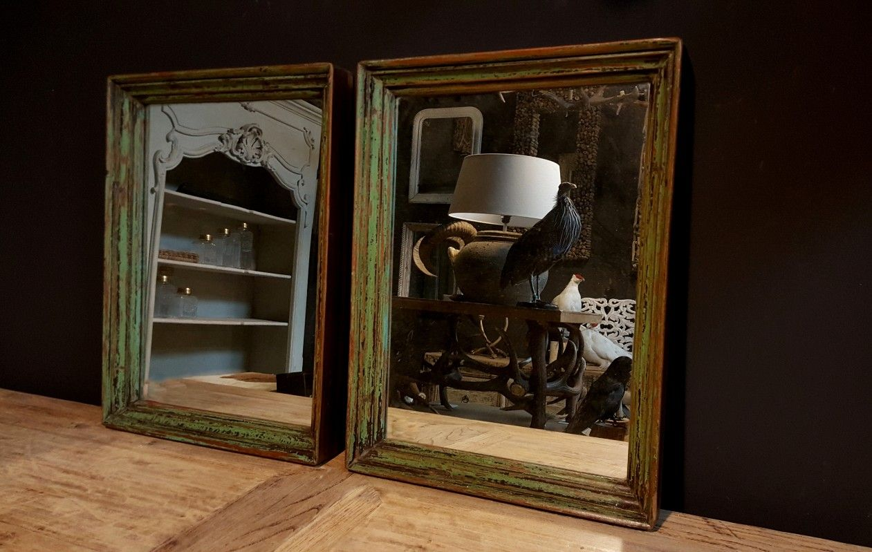 Spiegel Met Hout : Vintage houten spiegel spiegel oud hout te koop oud houten