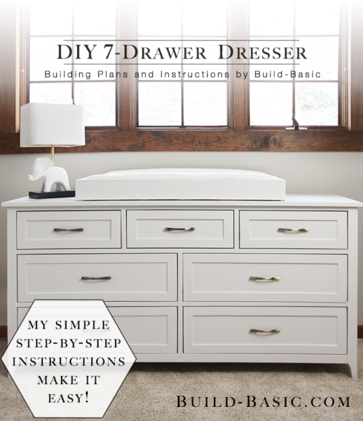 Build A Diy 7 Drawer Dresser Building Plans By
