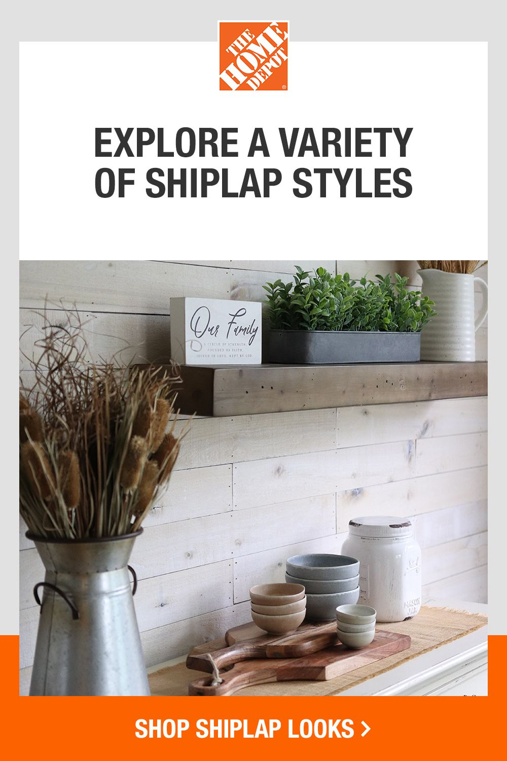 Explore shiplap looks to give your space a new feel, and complete your DIY project with ease with our how-to guides. Tap to shop shiplap looks at The Home Depot.