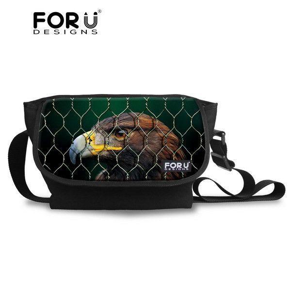 FORUDESIGNS Animal Pug Dog Messenger Bag Cross body Bag for Women Vintage Teenager Girls Travel Messenger-bag Over Shoulder
