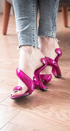 57cc589e06 2017 Summer New Fashion Bottomless Snake High Heels Platform Sandals ...