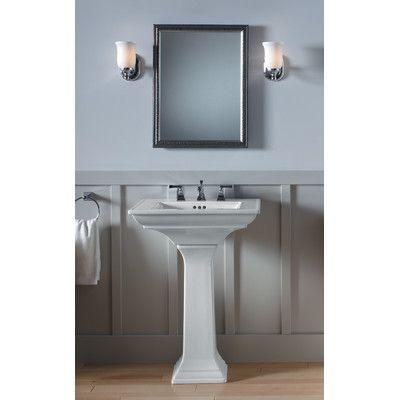 Archer Vitreous China Rectangular Pedestal Bathroom Sink With