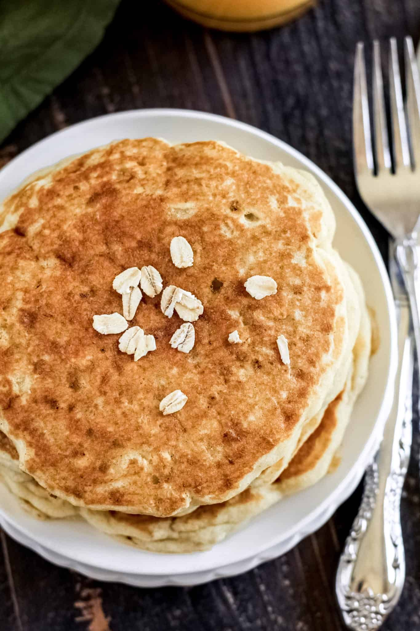 Different from oatflour based pancakes these easy