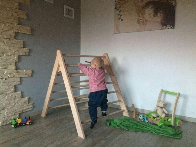 Kletterbogen Wehrfritz : Holz kletterdreieck xxl nach emmi pikler art handgefertigt baby