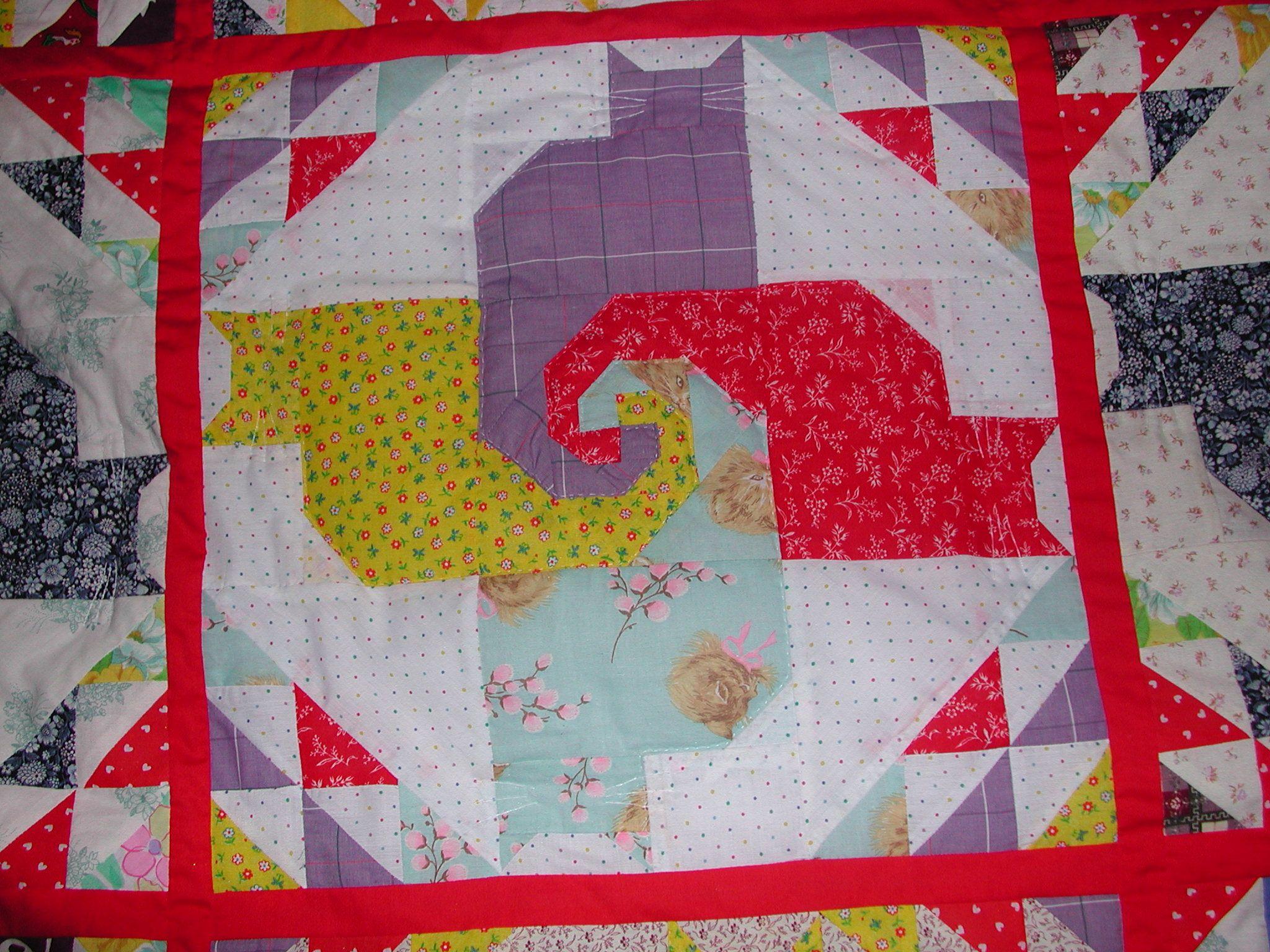 Kitty Pinwheel quilt