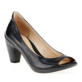 ecco peep toe pumps
