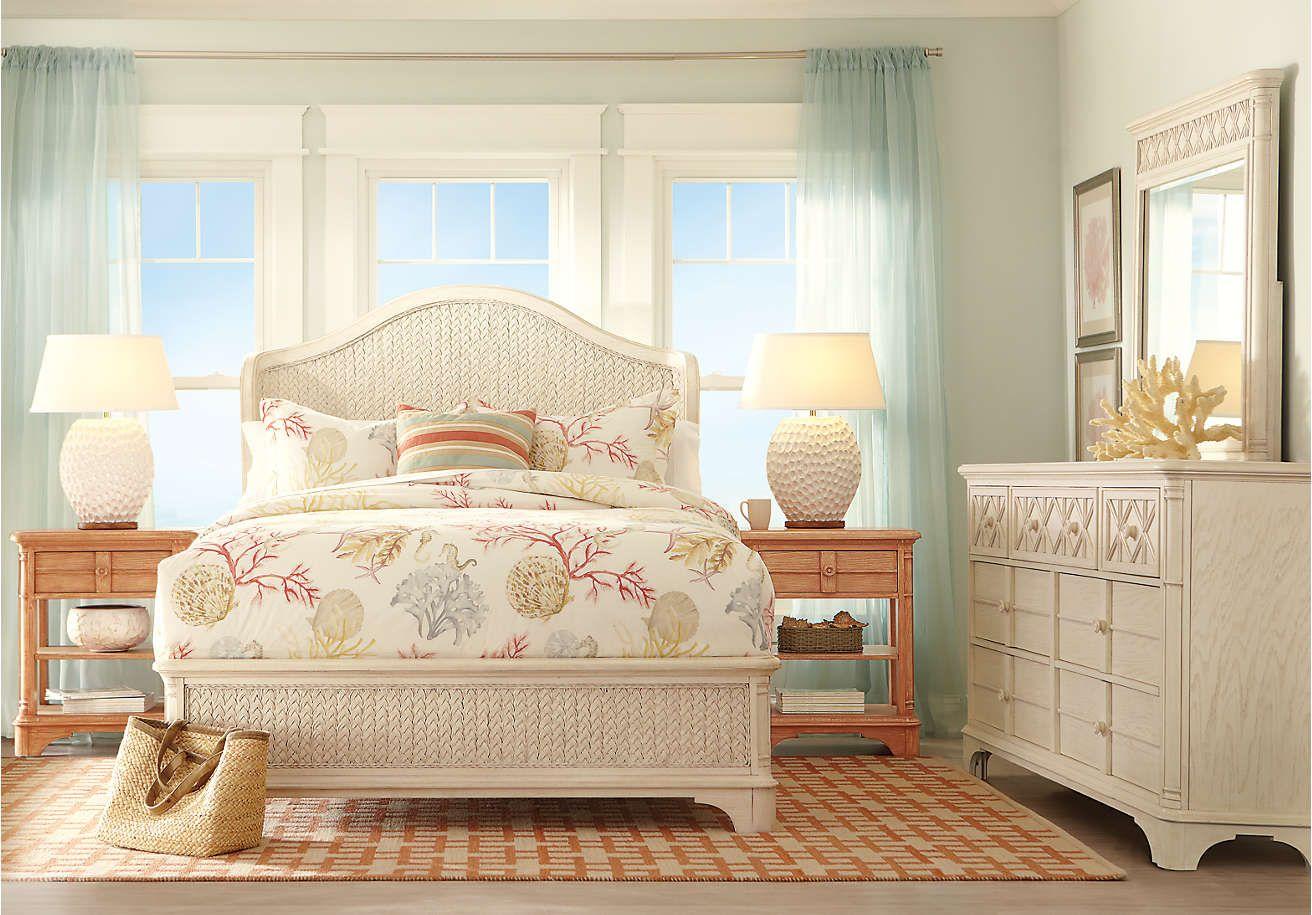 Superbe Cindy Crawford Home Bondi Beach Bisque 5 Pc Queen Wing Bedroom   Bedroom  Sets