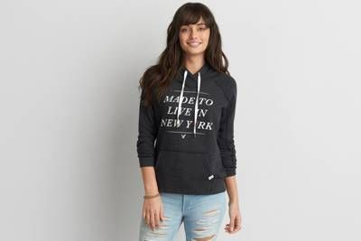 AEO NYC Graphic Hoodie  by  American Eagle Outfitters | Get inspired by the city that never sleeps.  Shop the AEO NYC Graphic Hoodie  and check…