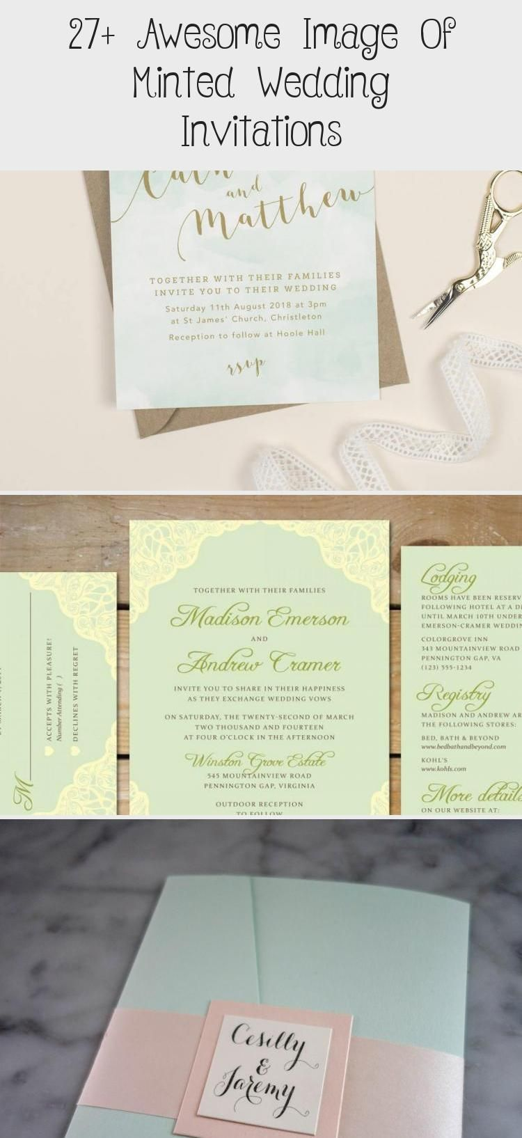 27 Awesome Image Of Minted Wedding Invitations Minted Wedding Invitations Paint 27 Awesome Image Of Mint In 2020 Mint Wedding Mint Invitation Wedding Invitations