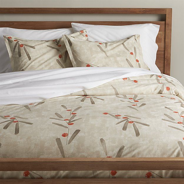osaka duvet covers and pillow shams | crate and barrel | house