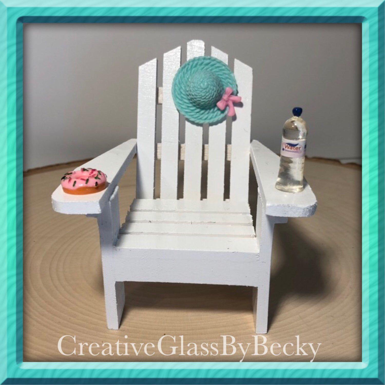 Miniature Beach Chair Decor Or Cake Topper Creative Glass By