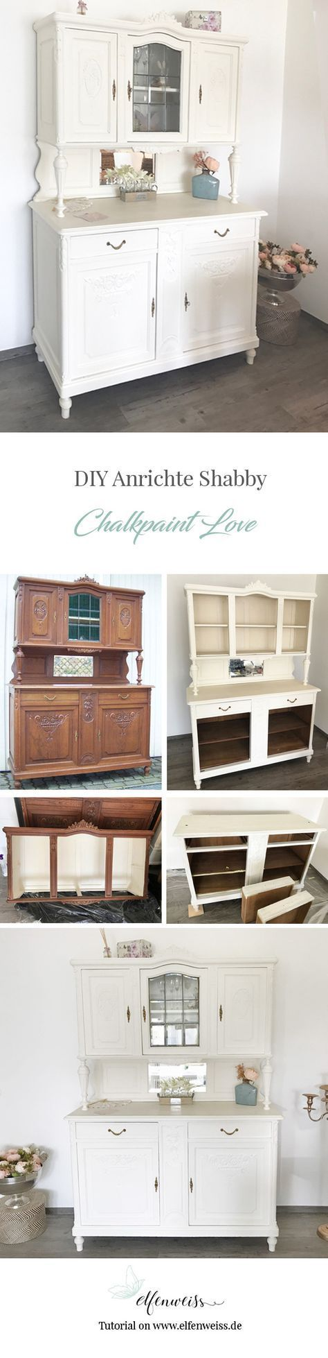Küchenanrichte Restaurieren Diy Vintage Buffet In Kreideweiss New Home Pinterest
