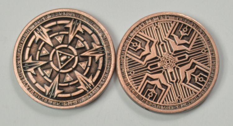 Gold Fantasy Coins for RPG and fun! | Piece de monnaie et Motif