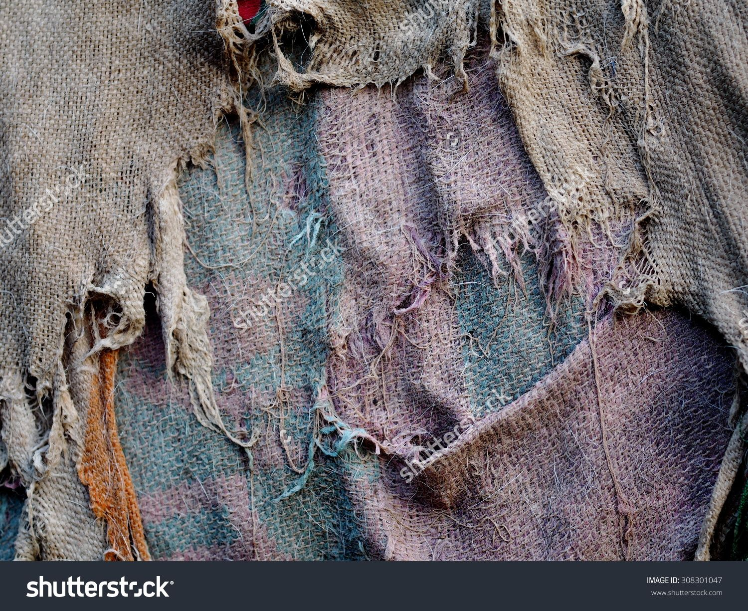 Stock Photo Old Dirty Wet Tatters Rag Cloth For Outdoor