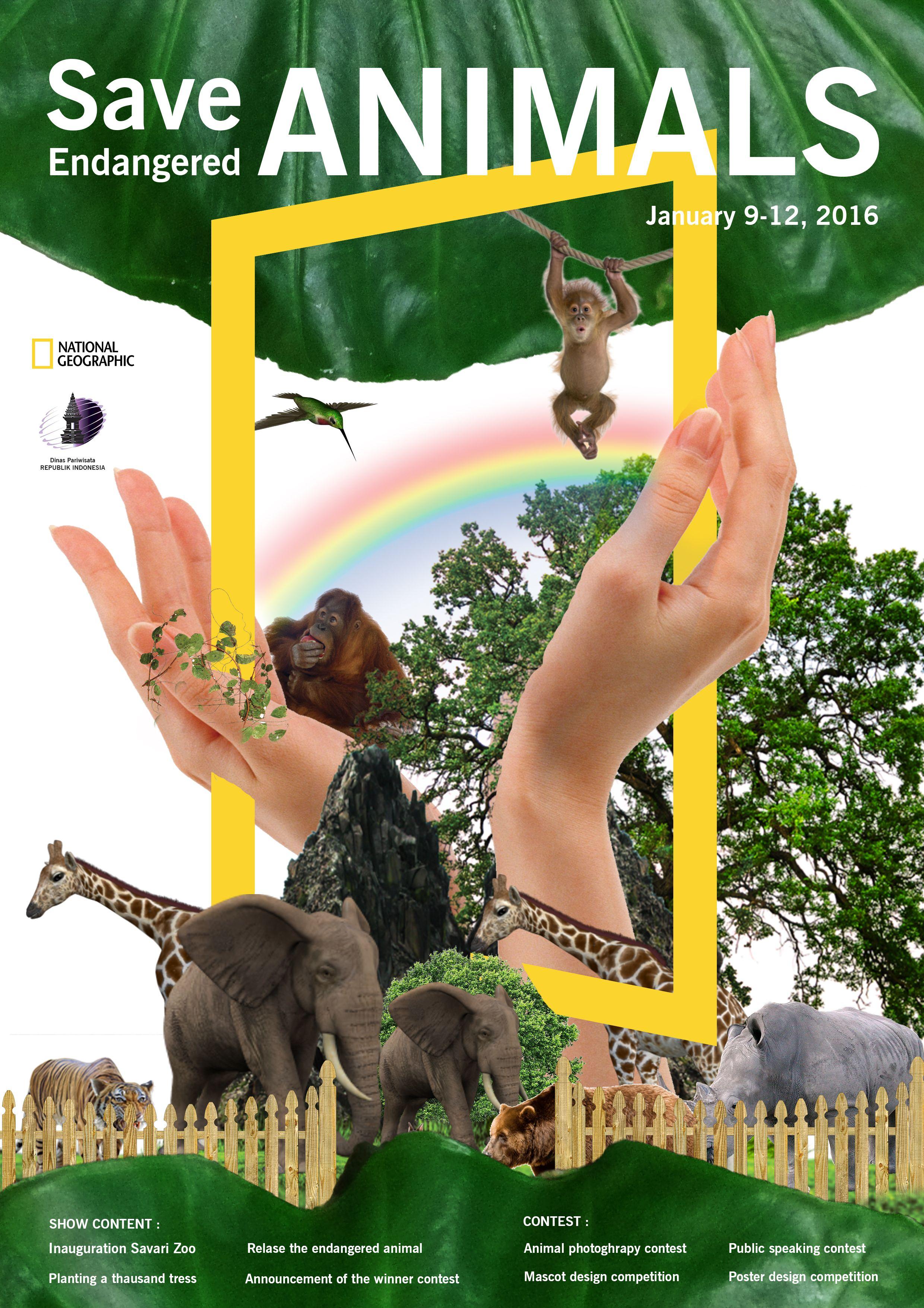 45 Gambar Poster Hewan Langkah Gratis Terbaik