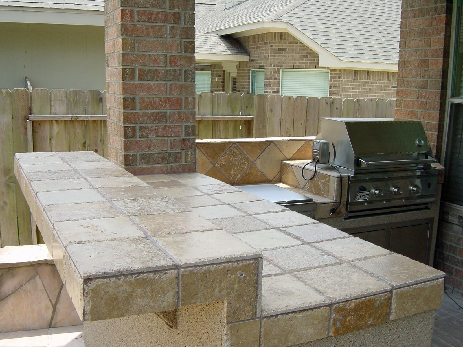 Small Outdoor Kitchen Under Patio