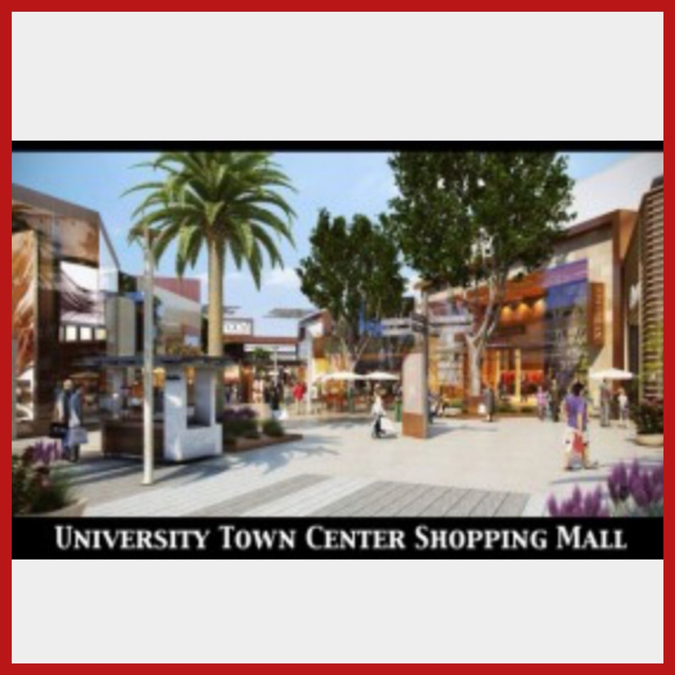 University of Town Center is an #Outdoor shopping center with upmarket chain #retailers, a #movie #theater & a #skating #rink. ☀️