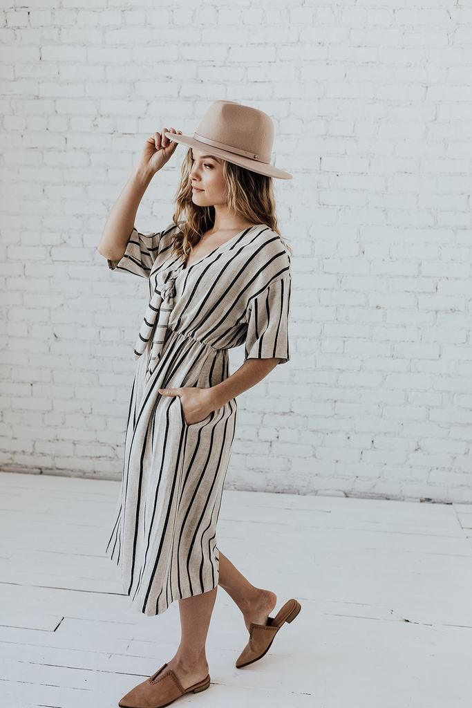 078610fc2d Kirby Linen Wrap Midi in Taupe in 2019