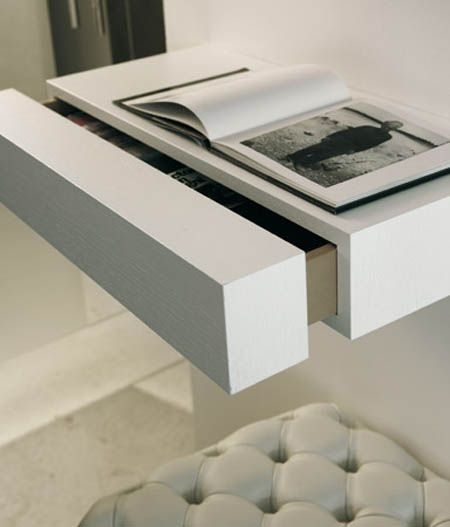 Floating Wall Hung Bedside Table Shelf Bedroom Contemporary Pinterest Table Shelves