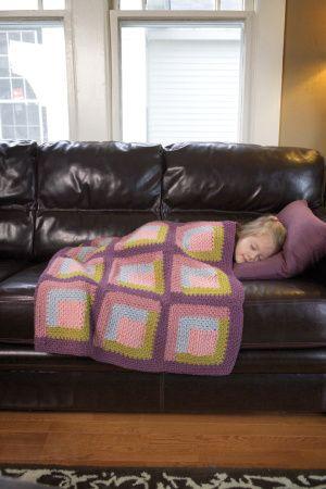 Free crochet pattern - log cabin blanket