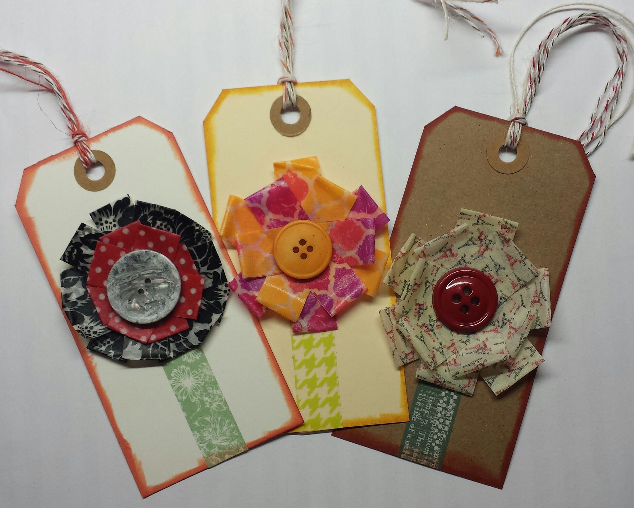 Washi tape flower tags! by chellehames3.