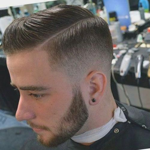 Guys Haircuts Low Fade With Side Part Menshairstyles Mens