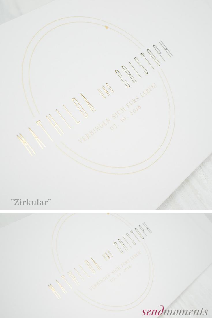 Zirkular Horizontale Klappkarte 148x105 Gelbbraun Hochzeit