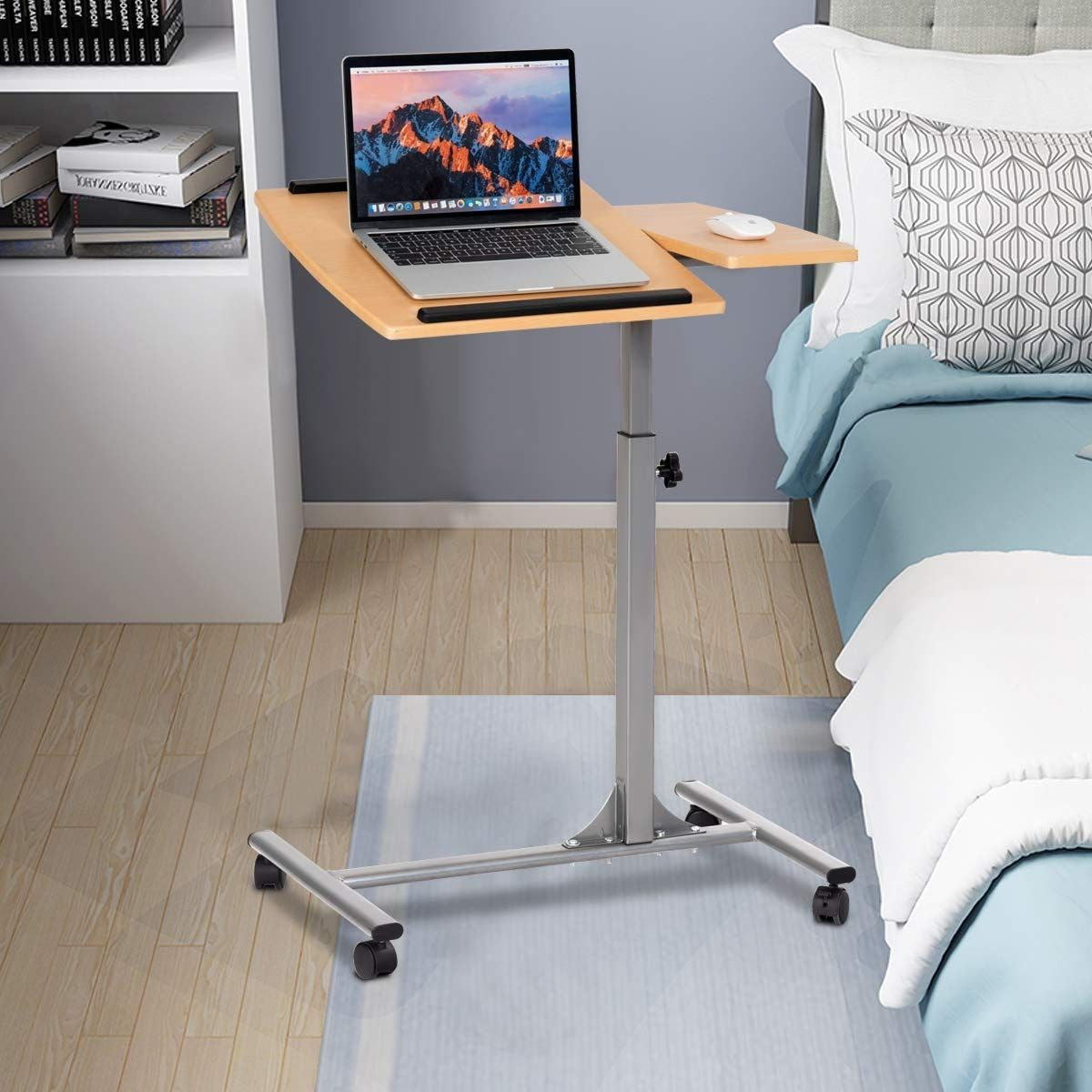 Adjustable Laptop Desk With Stand Holder And Wheels Laptop Desk Adjustable Height Table Adjustable Desktop