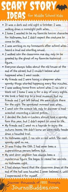 scary story writing ideas for middle school kids writing skills  scary story writing ideas for middle school kids