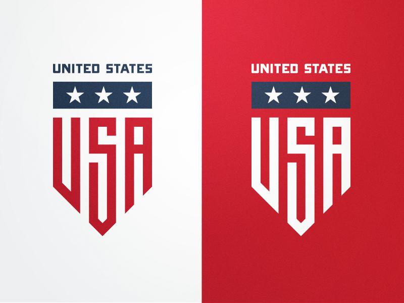 Usa Badge Badge Logo Logo Design Creative Sports Logo Design