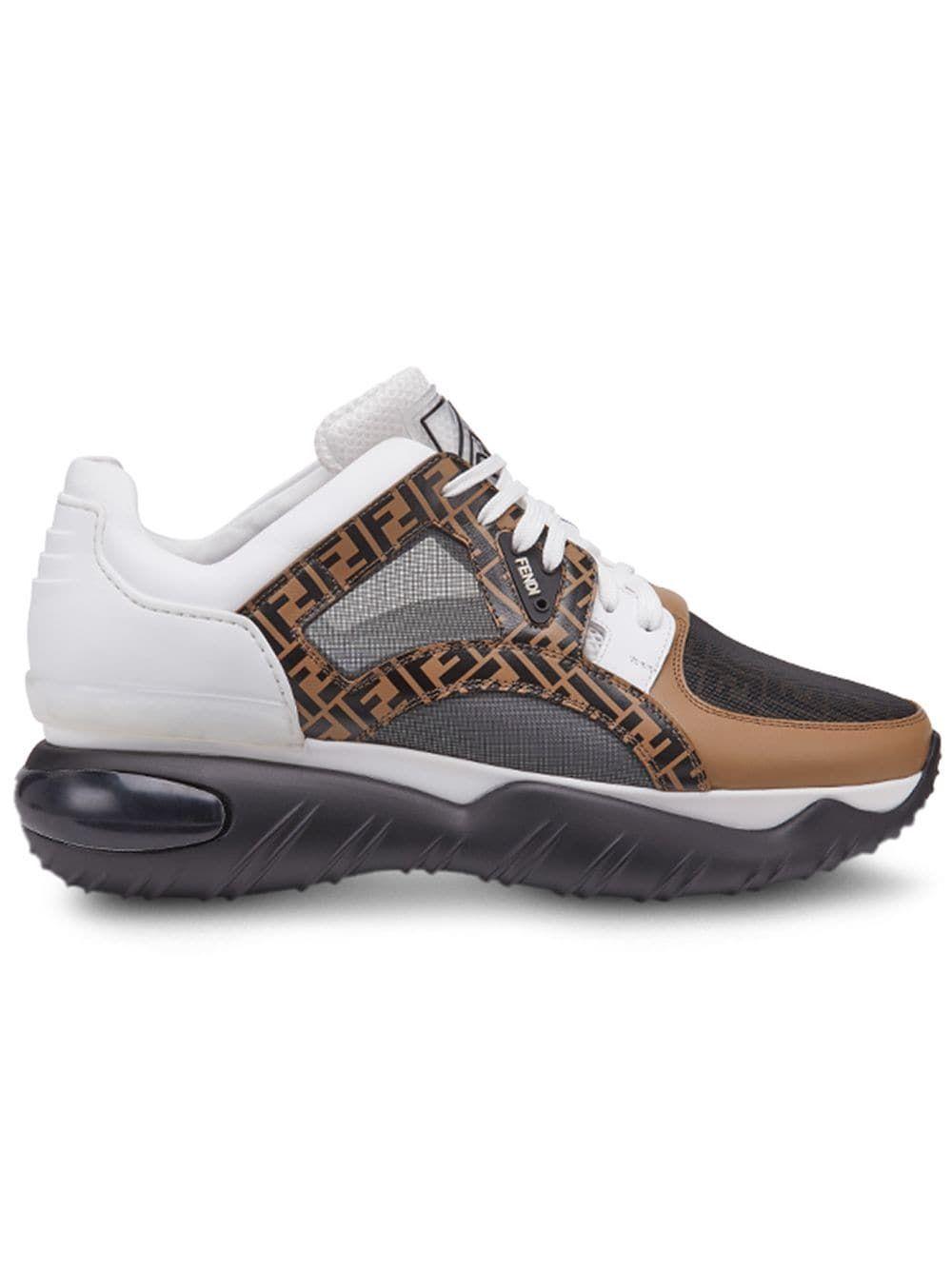 db8bfa3853 FENDI FENDI CHUNKY MONOGRAM RUNNER SNEAKERS - BROWN. #fendi #shoes ...