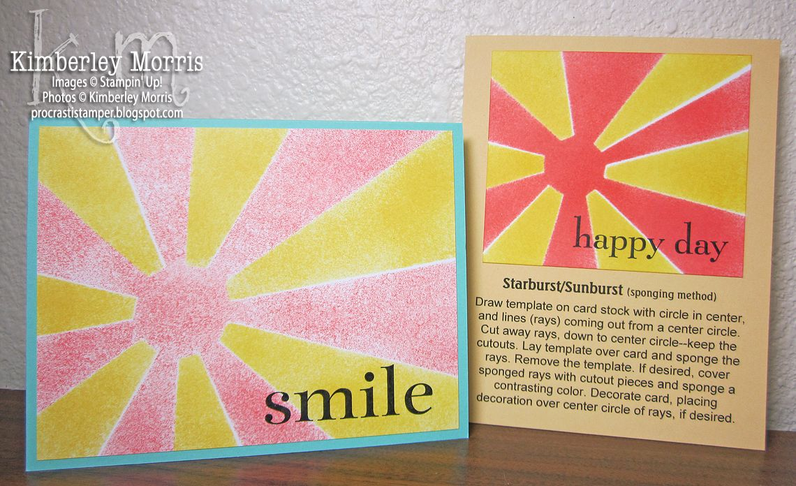 Faux Chalkboard And Starburst Or Sunburst Technique Sunburst Cards Starburst Card Making Techniques
