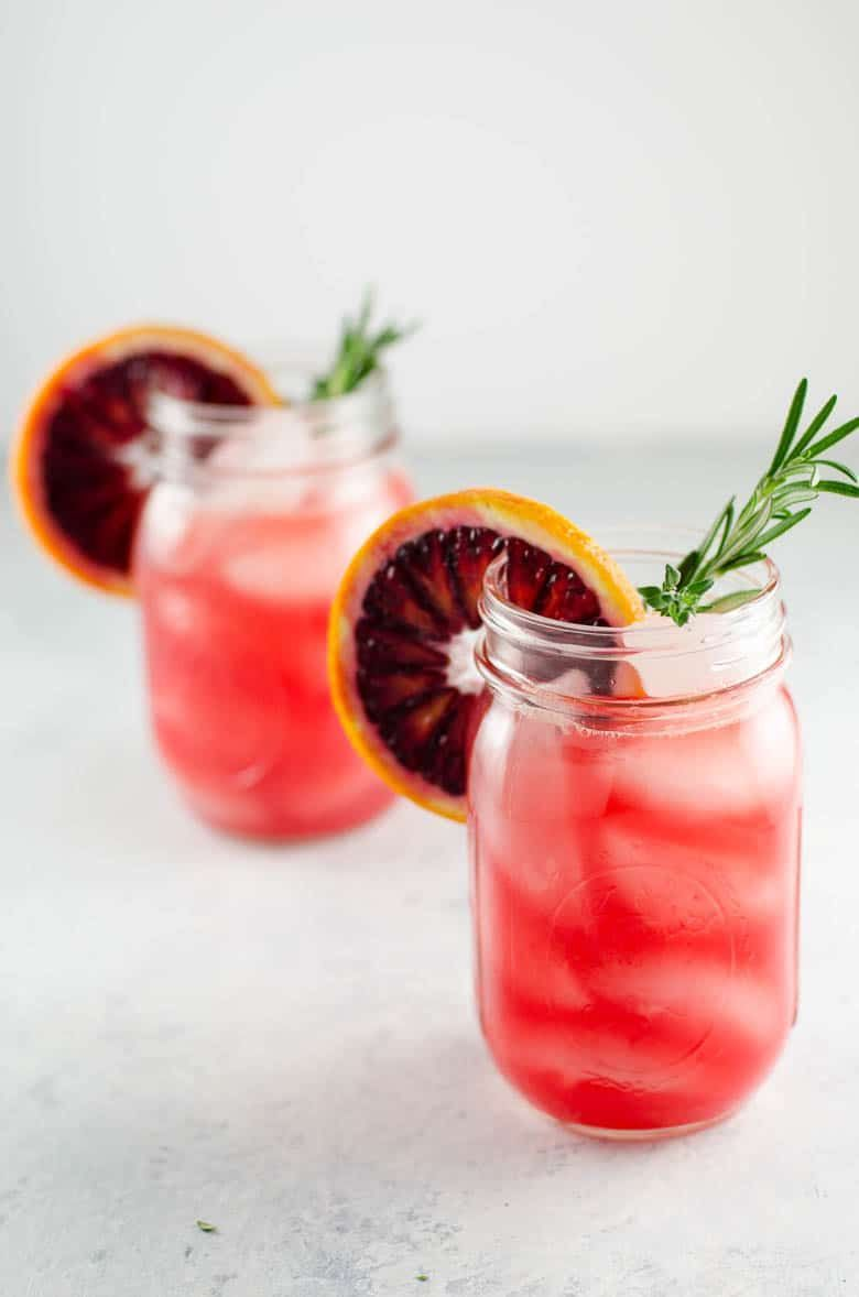 Blood Orange Grapefruit Cocktail with Winter Herbs #grapefruitcocktail Blood Orange Grapefruit Cocktail with Winter Herbs | Umami Girl #grapefruitcocktail