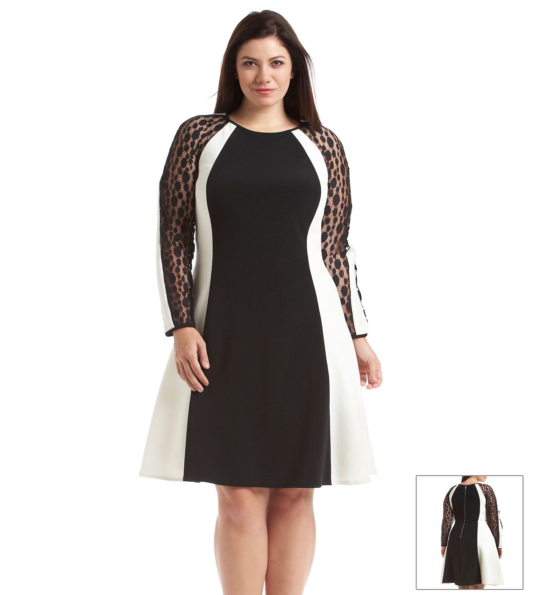 Julia Jordan Plus Size Illusion Colorblock Dress Emma Meyer Bon
