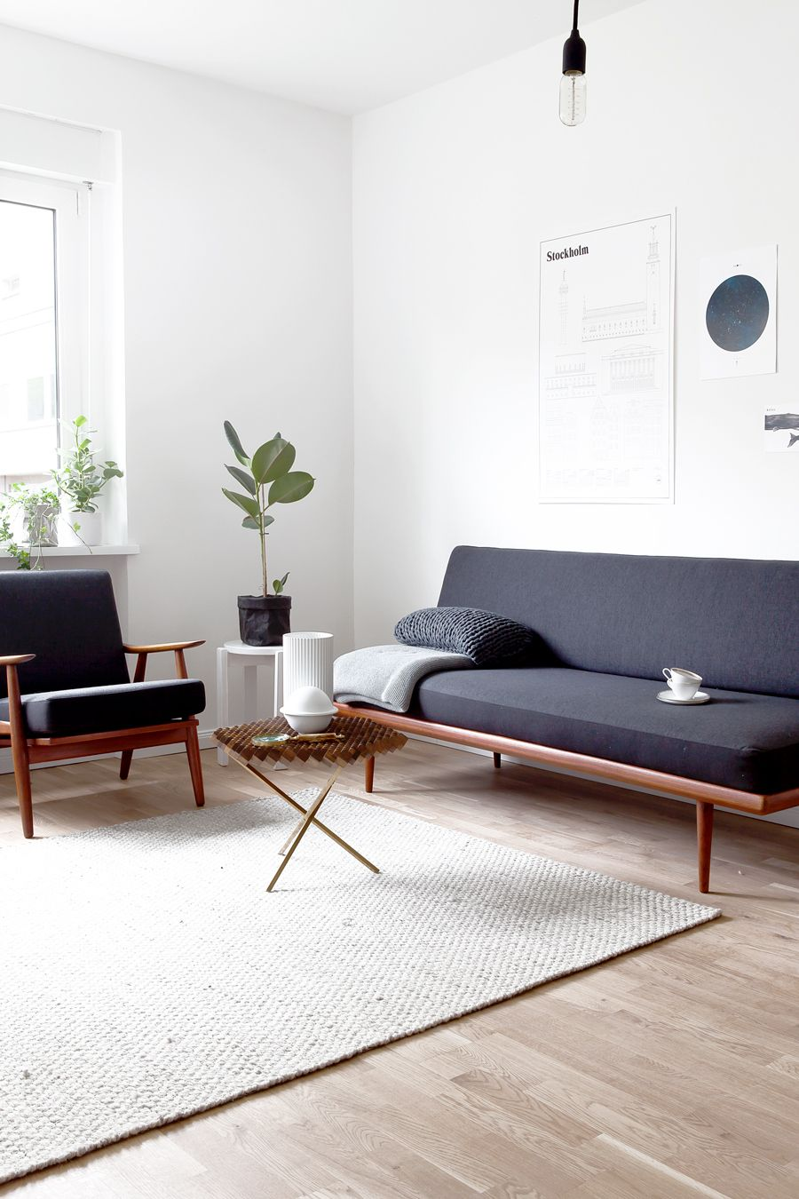 Scandinavian Vintage / Blog La Petite Fabrique De Rêves · Vintage Modern Living  RoomSimple Living Room DecorLiving Room Decorating IdeasLiving ... Part 65