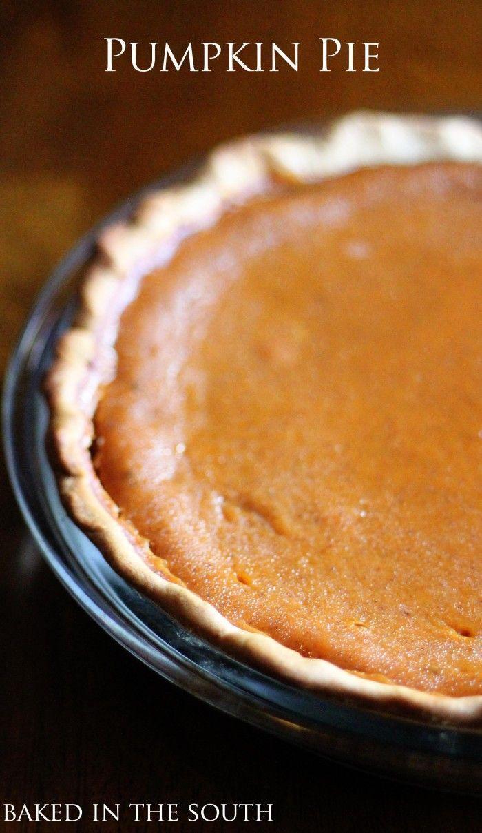 Paula Deen's Pumpkin Pie Recipe – Baked in the South #pumpkinpierecipe