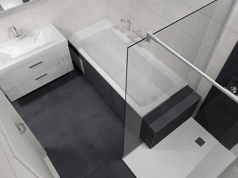 De eerste kamer badombouw loopt door tot in de douche deze badkamer is verrassend omdat de - Winkelruimte met een badkamer ...