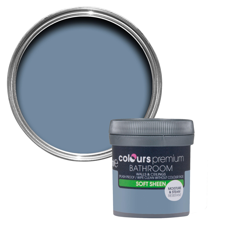Colours Bathroom Blue Thistle Soft Sheen Emulsion Paint