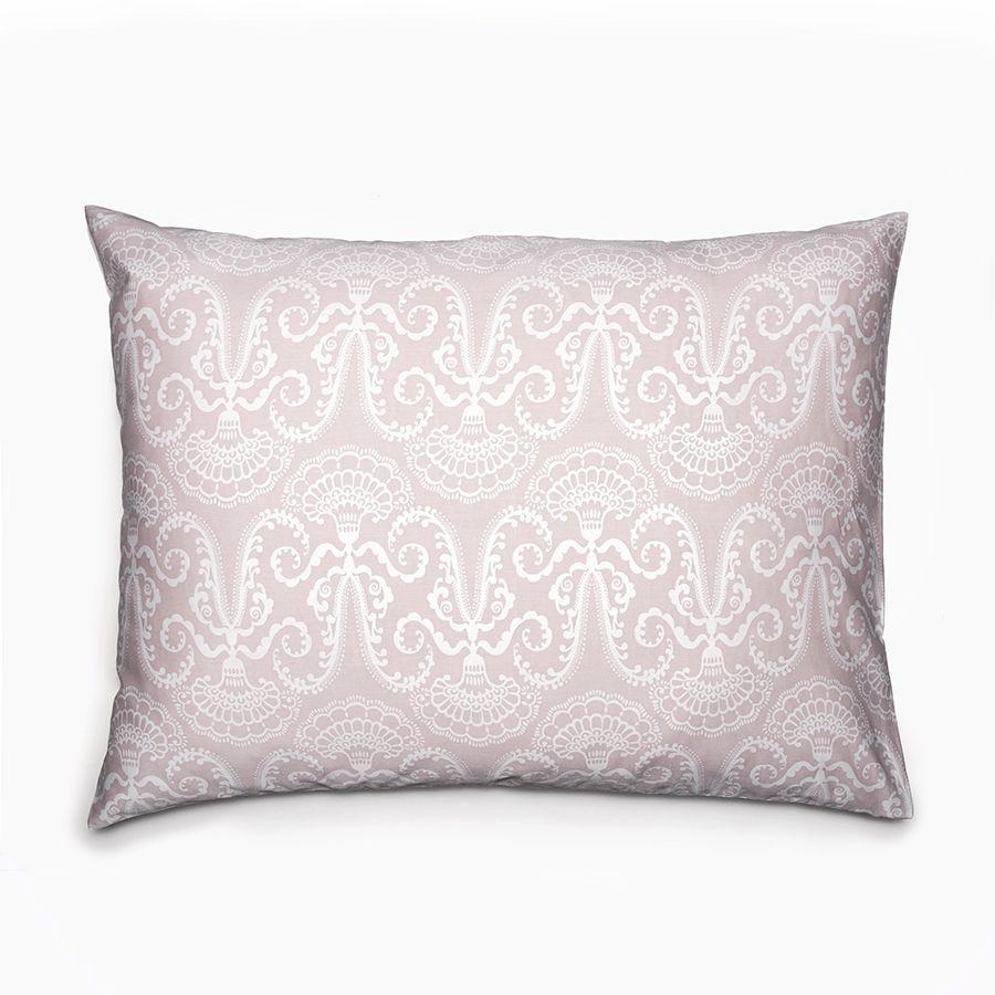 Lennol | MILJA Ornamental pillowcase, rose (50 x 60 cm, 20 x 24 inch) / (60 x 80 cm, 24 x3 2 inch)