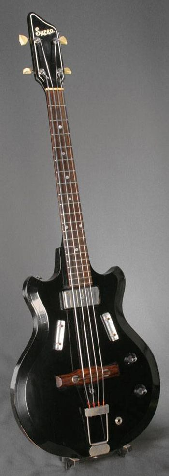 frettedchordophones: Supro Bass Guitar =Lardys Chordophone of the day - a year ago --- https://www.pinterest.com/lardyfatboy/