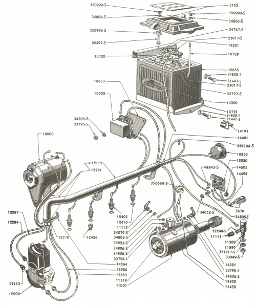 Wiring Parts For Ford 9n & 2n Tractors (1939 in 2020 | 8n ...