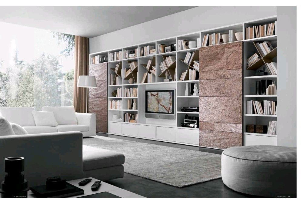 Comp. 335 Wall Unit by Presotto, Italy has lacquered structure and ...