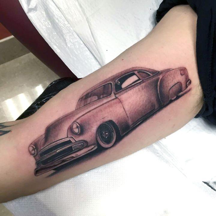 Classic Car Tattoo Classic Car Tattoo Pinterest Car Tattoos