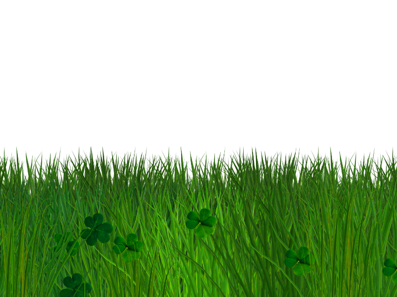Green Grass and Clover Border with Transparent Background ...