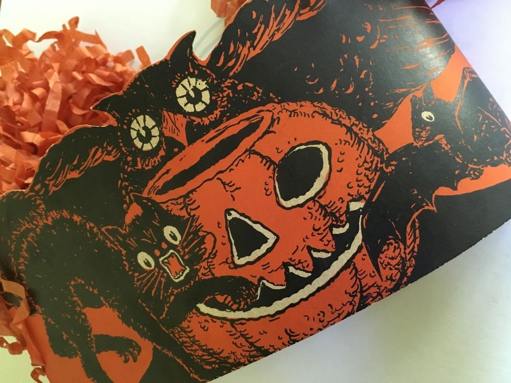 halloween printed headband with paper hair
